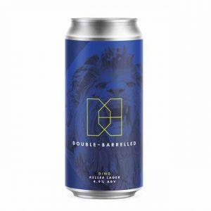 Double Barrelled Ding Keller Lager 4.9% 440ml
